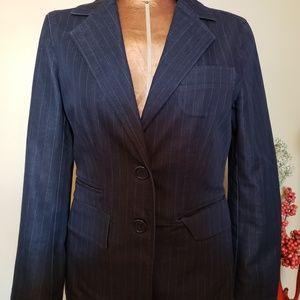 Kenneth Cole Women Blazer Size 4  Black/Blue White